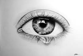 eye with teardrop by crisstyana on deviantart