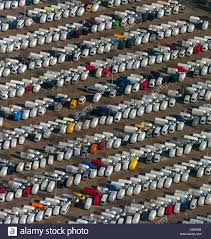 mercedes factory view on the delivery parking area on the factory ground of the