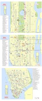 ny tourism bureau large detailed tourist attractions map of york city york