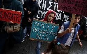 Seeking German Refugees March To German Embassy Seeking Reunification With