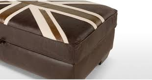 Vintage Storage Ottoman Awesome Union Jack Storage Ottoman With Edward Jack Storage
