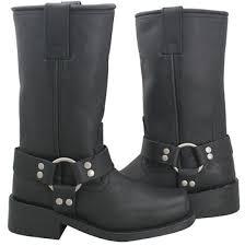 womens xelement boots xelement 2442 s black grain leather harness