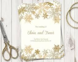 Christmas Wedding Programs Christmas Wedding Etsy