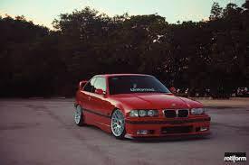 bmw e36 stanced stanced out bmw m3 touring with roll cage and rotiform custom