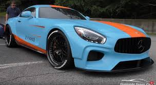 gulf car widebody mercedes amg gt rs by starke usa almost has a gulf livery