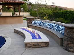 outdoor fire pit with glass rocks fire pit design ideas
