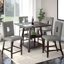 maysville counter height dining room table 5 piece dining set new red barrel studio burgess counter height