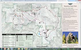 Colorado Mountain Map by New Mtb Trail Staunton State Park Colorado Singletracks