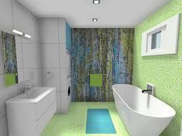 Virtual Bathroom Makeover - roomsketcher bathroom design modern bright color tile blue green