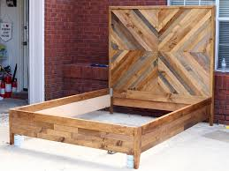 reclaimed wood bed frame plans decoration ideas how to build a diy