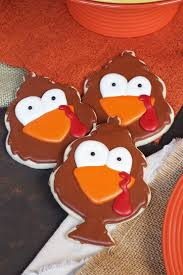 easy thanksgiving cookies tom turkey cookies for thanksgiving the bearfoot baker