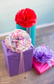 gift wrap with tissue paper wrap the gift by adding this diy tissue paper gift