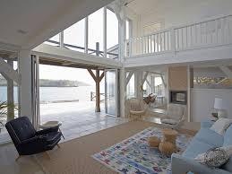 a coastal timber framed multi levelled house cornwall