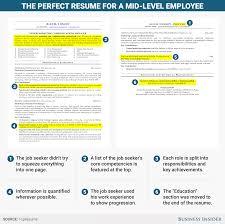 Apple Store Resume Excellent Résumé For A Mid Level Employee Business Insider