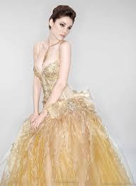 golden wedding dresses stunning gold wedding dresses aelida