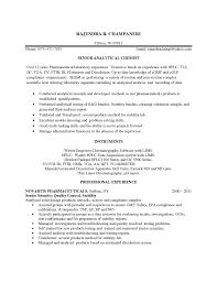 Sample Resume For Quality Control by Chemist Resume Templatebillybullock Optimus Drugs Hiring 2017 For
