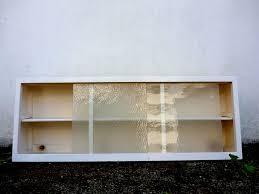 VINTAGE RETRO S S KITCHEN WALL UNIT CUPBOARD W SLIDING GLASS - Glass door kitchen wall cabinet