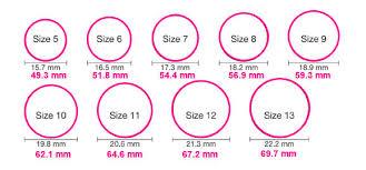 womens ring size sizing