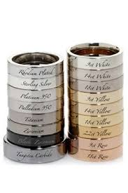 different types of wedding rings the different metal types of wedding rings rings