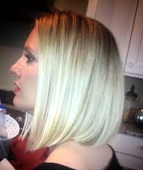 angled hairstyles for medium hair 2013 balayage blonde bob angled bob diagonal forward mid length