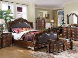 sleigh bed luxury sleigh bed king with bench and dresser for