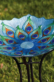 glass yard images glass bird bath garden lawn yard decor
