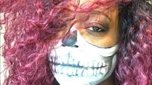 halloween skeleton masks halloween skeleton mask face paint fenty foundation youtube
