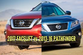 nissan pathfinder hybrid 2017 2017 nissan pathfinder vs 2013 2016 facelift changes photo