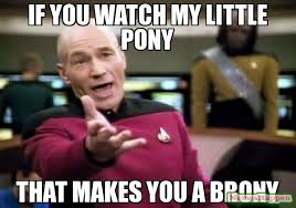 Brony Memes - if you watch my little pony that makes you a brony meme picard