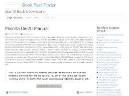 21 minolta di620 manual
