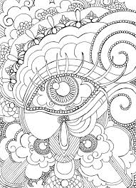 eye want to be colored coloring page steampunk