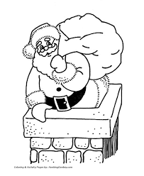 santa claus coloring pages santa claus chimney