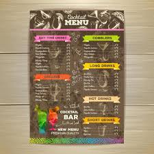 drinks menu template eliolera com
