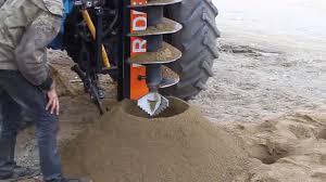 excavator attachments excavator with auger tractor auger bobcat