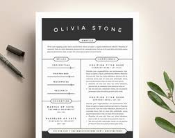 Two Page Resume Sample by Modern Resume Template And Cover Letter Template For Word