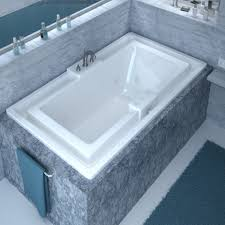 52 Bathtub Venzi Celio 78 X 46 Endless Flow Bathtub With Center Drain
