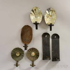 Tin Wall Sconce Three Pairs Of Tin Wall Sconces And A Single Wall Sconce Sale