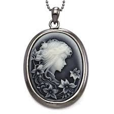 cameo necklace pendant images Soulbreezecollection grey cameo pendant necklace charm jpg