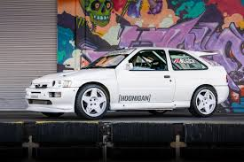 hoonigan cars ken block 1991 ford escort cosworth at hoonigan donut garage