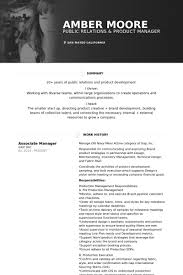 Product Manager Resume Samples by Associate Manager Resume Samples Visualcv Resume Samples Database