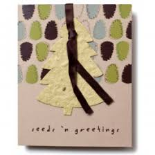 seed paper ornament folding cards plantable cards