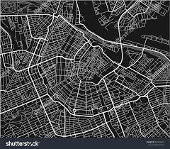 Map Of Amsterdam Black White Vector City Map Amsterdam Stock Vector 561416029
