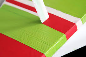 star christmas canvas and how to paint perfect stripes