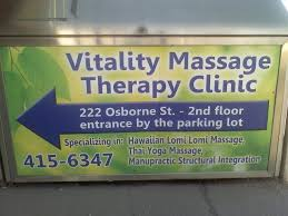 vitality massage therapy clinic products