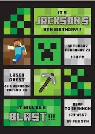 minecraft birthday invitations minecraft birthday party custom invitation kdj s lab