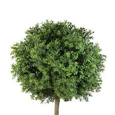 Potted Topiary Trees 5 U0027 Potted Two Tone Artificial Murraya Ball Topiary Tree Sku