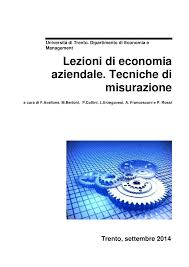 dispensa economia aziendale dispensa lezioni di economia aziendale tecniche di misurazione