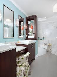 bold blue master bathroom cheryl kees clendenon hgtv
