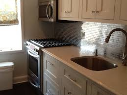 Metallic Tile Backsplash by Stainless Steel Tile Backsplash Kitchen Cabinet Hardware Room