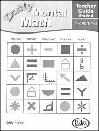 2nd grade mental math daily mental math answer key grade 6 043764 details rainbow